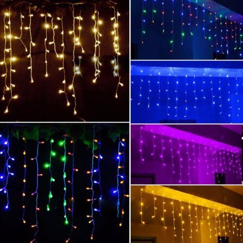 LED Lichternetz Lichterketten Lichtervorhang Hochzeit Party Außen Beleuchtung DE