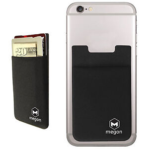 huge selection of 7a89b db7eb Details about Megon Universal Cell Phone Credit Card Holder Wallet Case w/  RFID Blocking