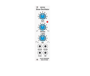 Details about ELBY-DESIGNS ED722 SLOW OSCILLATOR LFO EURORACK SYNTHESIZER  DIY KIT