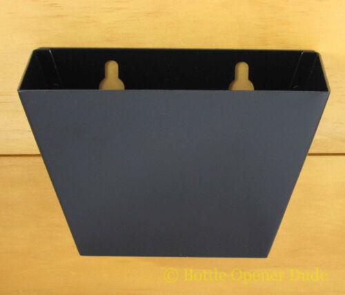 Black Metal CAP CATCHER For Wall Mount Bottle Openers Starr X Aluminum NEW!!