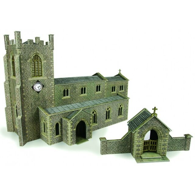 Parish church - OO/HO Card kit – Metcalfe PO226