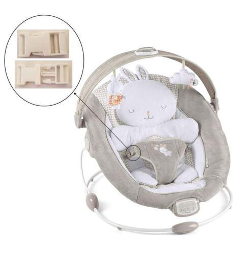 1 White Harness Seat Clip for Ingenuity Inlighten Bouncer Infant Baby Swings NEW