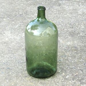authentic old french green glass demijohn bonbonne wine bottle 6 2 liters ebay. Black Bedroom Furniture Sets. Home Design Ideas
