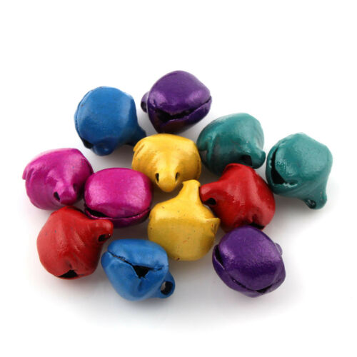 500 campanilla campanas cascabeles 6mm con corchete Mix color multicolor decorativas bricolaje m379