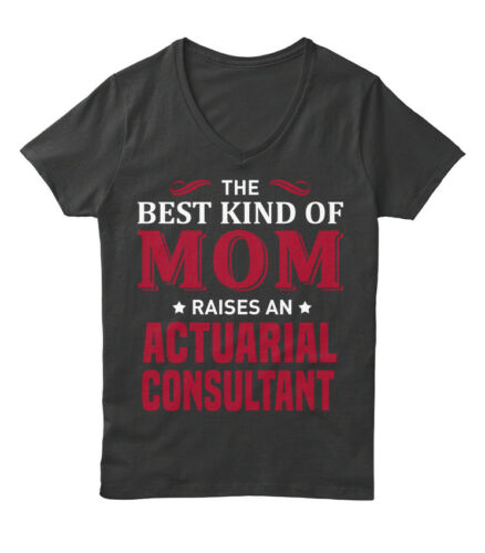 Cozy Actuarial Consultant The Best Kind Of Mom Hanes Women/'s Relaxed V-Neck