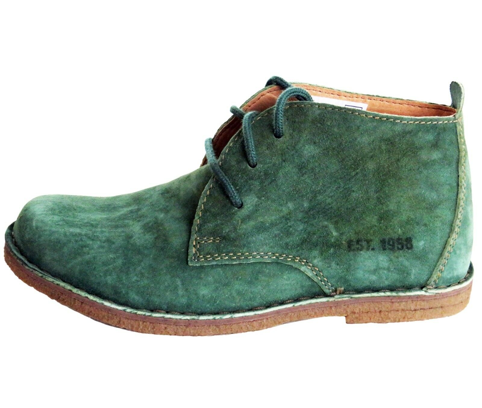 RRP -  HUSH PUPPIES LADIES DUFFY SUEDE DESERT GREEN ANKLE BOOT Sz