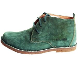 RRP-70-HUSH-PUPPIES-LADIES-DUFFY-SUEDE-DESERT-GREEN-ANKLE-BOOT-Sz-UK-4