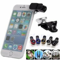 Universal 3 in1 Fish Eye+ Wide Angle + Macro Camera Clip-on Lens For LG iphone