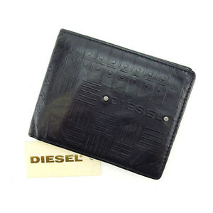 Diesel-Wallet-Purse-Bifold-Black-Woman-Authentic-Used-E887