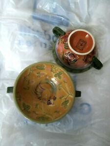 Set-of-2-Danna-Cullen-Design-Chanticleer-Footed-Serving-Bowls-7-1-2-034-Beautiful