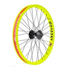 ODYSSEY BMX VANDERO FRONT or REAR BICYCLE WHEEL FLUORESCENT YELLOW HAZARD LITE