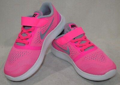 nike free rn psv Nike Free RN (PSV) Blast Pink/Silver Girl's Running Shoes - Size ...
