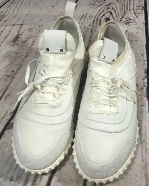 Valentino Garavani Women's Authentic Leather Studded Rockrunner Sneakers 9.5 40
