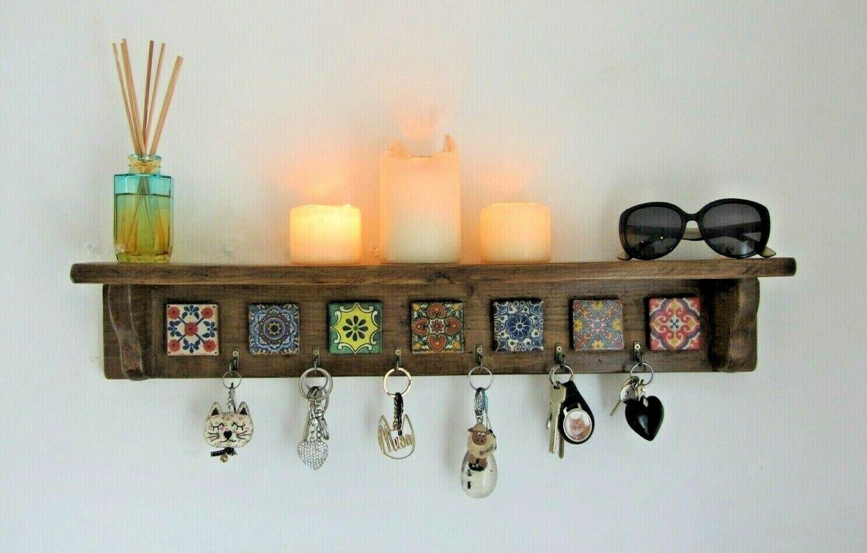 Mexicain meuble cuisine étagère Avec Clé Crochets