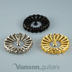 12, 25, or 50 VANSON Scratchplate Pickguard Screws for Strat®* or Tele®* guitar