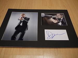 Signed-Mounted-Daniel-Craig-James-Bond-007-Card-photo-display-C-O-A