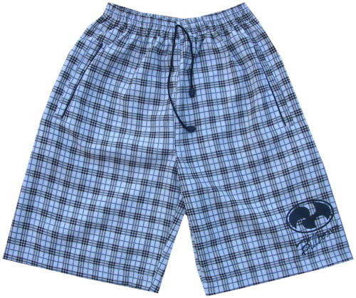 Mens Surf Skate Check Swim Board Sports Swimming Shorts Board Blue White Brown