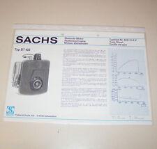 Typenblatt / Technische Daten Sachs Stationär Motor ST 102 - Stand 1976!