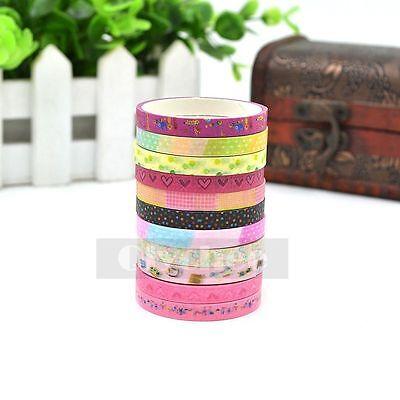 1X Mini Washi Tape Scrapbooking Decorative Sticky Adhesive DIY Decor 6mm X 3M