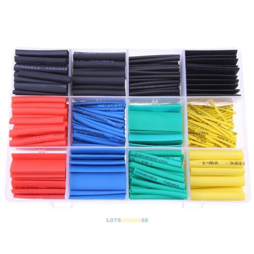 530PCS 2:1 Polyolefin Heat Shrink Tubing Tube Sleeve Wrap Wire Assortment 8Size