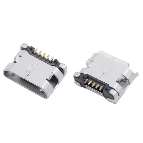 20 Stück Micro USB Typ B Buchse 5-Pin Buchse 180 SMD Lötgra  spZJP
