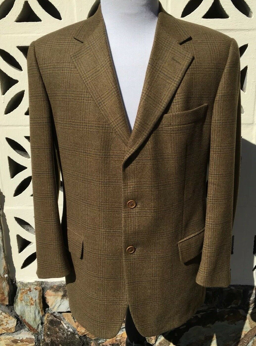 Ermenegildo Zegna Men's Sports Coat Brown Green Purple Houndstooth SOFT 40 R
