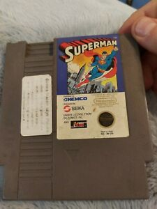 Superman Nintendo Game Authentic NES Cartridge - 1988 by Kemco Tested Working