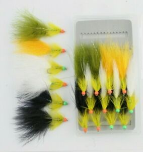 Set of 3 Orange Hothead Red Dancer Lure size 10 Fly Fishing Flies Trout