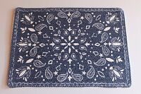 Kohl's Blue Printed Braid Bandana Placemat Western Country Usa Place Mat