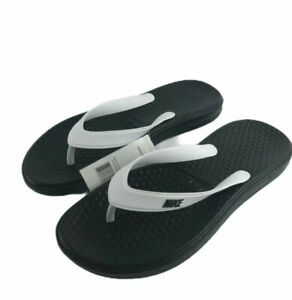 Details about NWT Nike Solay Thong Flip Flops Sandals Men's Size 15 White  Black 882690-100 New