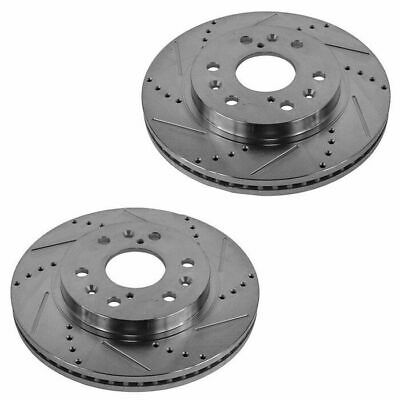Nakamoto Performance Brake Rotor Drilled /& Slotted Front Coated Pair for Toyota