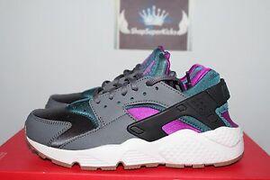 Nike WMNS Air Huarache Run Dark Grey/Teal 634835-016 Women
