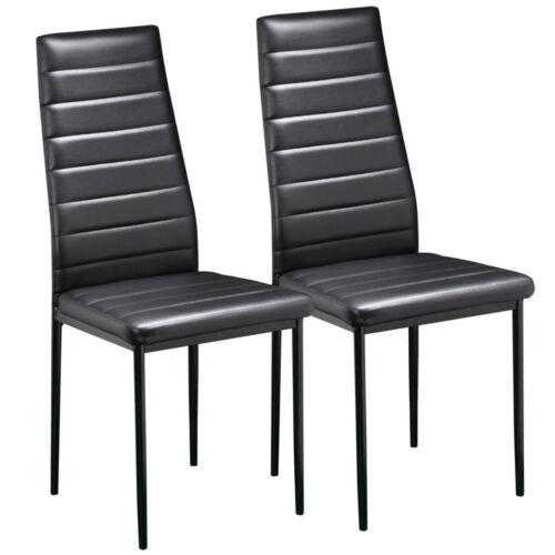 2 Stück Esszimmerstuhl Küchenstuhl Stuhl Sitzgruppe Wohnzimmer schwarz