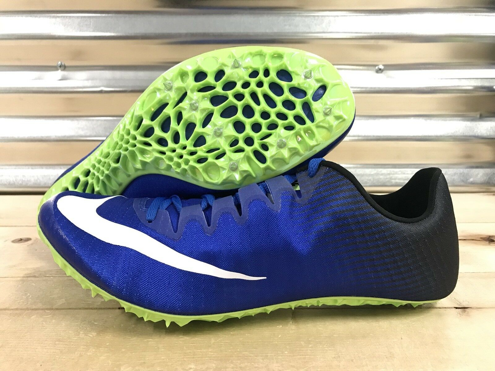 Nike Zoom Superfly Elite Racing Track Spikes Blue Black White Price reduction