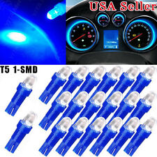20 PCS Ultra Blue T5 Hat 5050 Tri-Cell 1SMD LED Dashboard Instrument Panel Light