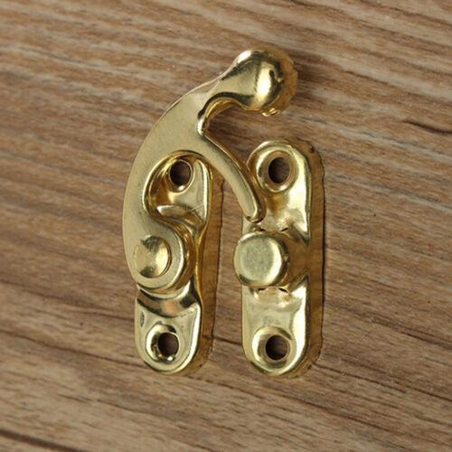 5x antique Metal catch courbé boucle corne Lock fermoir crochet boîte~ à Formida