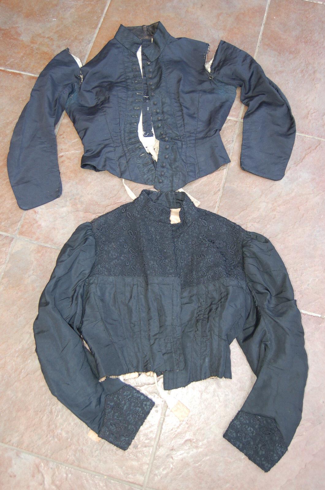 Antiguo ROPA MUJER NEGRA ropa CASTILLO - botón antiguo
