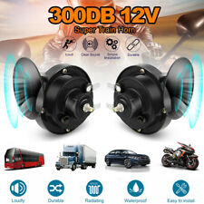 2x 12v 300db Super Loud Train Horn Waterproof For Motorcycles Car Truck Suv Boat