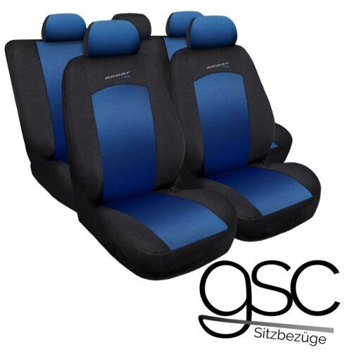 Peugeot 307 Universal Blau Sitzbezüge Sitzbezug Auto Schonbezüge Schonbezug