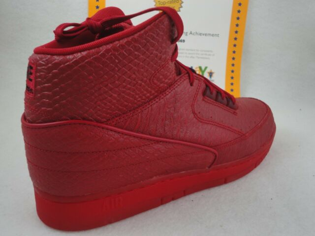 8654da5ab77574 Nike Air Python Premium PRM Sz 11 Snake Skin Gym Red Jordan II 2 EUC ...
