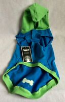 Large Boots & Barkley Pet Hoodie W/ Tags Blue Green 100% Cotton