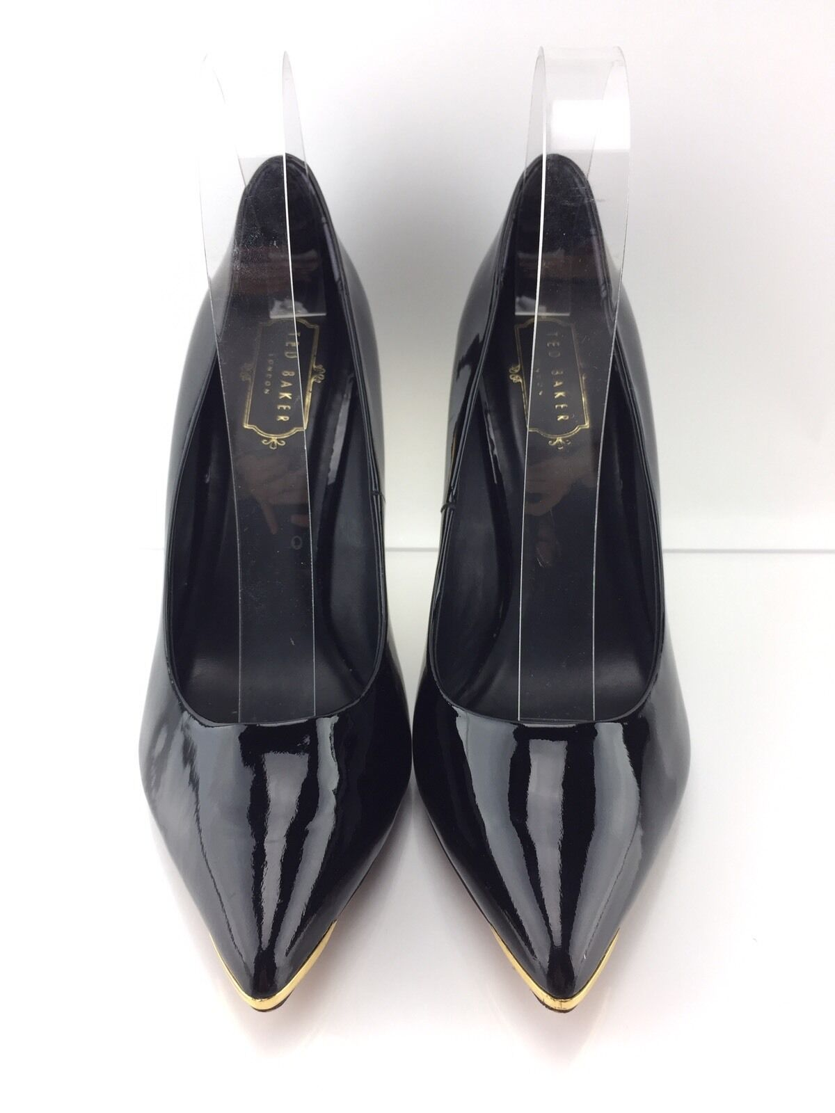 Ted Baker Women's Patent Leather Black Black Black Heels 39 1ce859