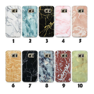 low priced 3a9c6 d4bdf Details about New Phone Case Cover Marble Designs for Samsung Galaxy S6 S7  Edge S8 S9 Plus