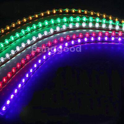 24/48/96/120cm LED Car Auto Flexible Neon Light Strip Line Lamp Waterproof 12V