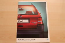 74894) VW Golf III Variant Young Family Prospekt 01/1995