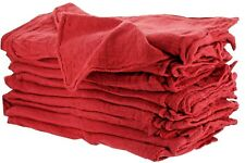 100 INDUSTRIAL SHOP RAGS / CLEANING TOWELS RED
