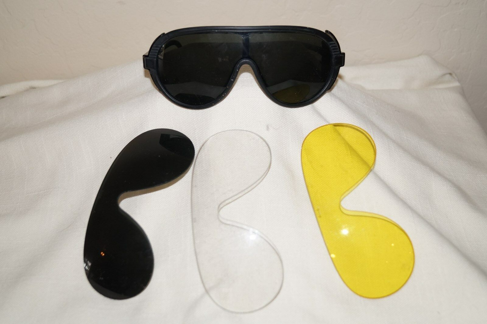 Vintage  Porker  Riding Sunglasses with 4 changeable lenses  clear,yellow,dark(2)  export outlet