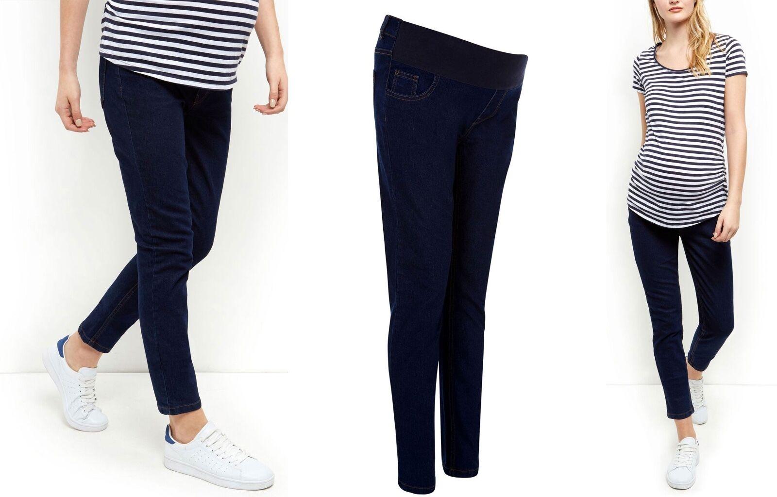 NEW LOOK bleu Denim marine de maternité grossesse Jean Skinny Denim bleu Smart Pantalon Taille 8 - 20 6a462e