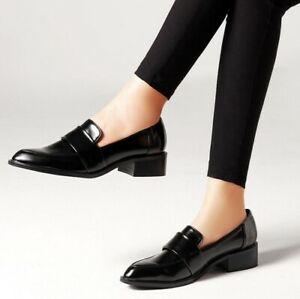 women's faux leather formal oxfords pumps casual loafers