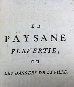 Curiosa-Retif-de-la-Bretonne-La-Paysanne-Pervertie-Rare-Ouvrage-du-18eme-Siecle